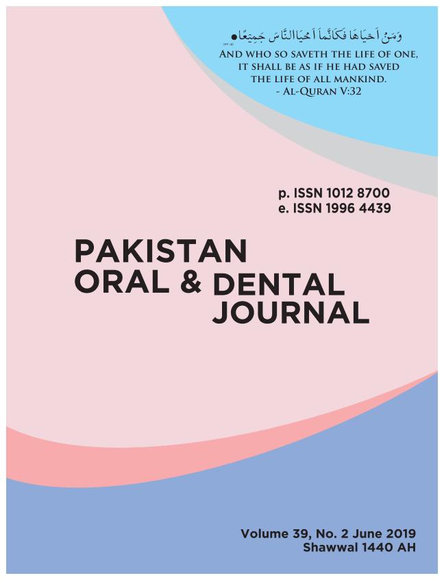 Pakistan Oral & Dental Journal